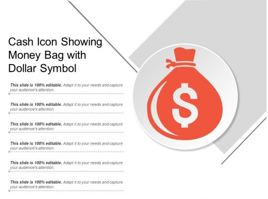 Cash Icon Showing Money Bag With Dollar Symbol Graphics