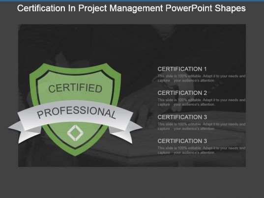 Certification In Project Management Powerpoint Shapes Powerpoint
