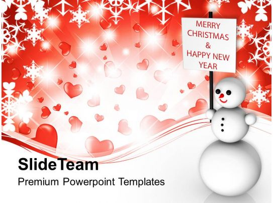 christmas greetings snowman wishing and happy new year templates ppt backgrounds presentation powerpoint images example of ppt presentation ppt slide