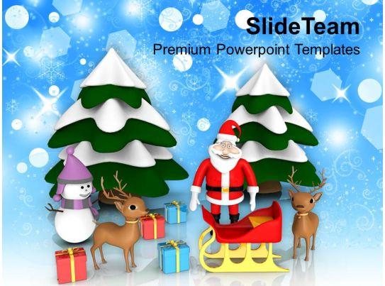 Christmas Message Jesus Decorative Theme Holidays Powerpoint