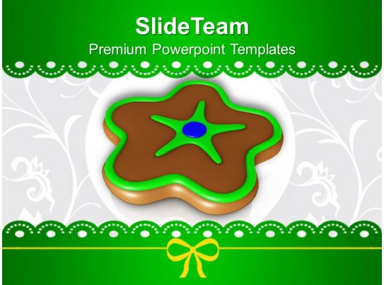 christmas ornament chocolate cookies powerpoint templates ppt backgrounds for slides. Black Bedroom Furniture Sets. Home Design Ideas