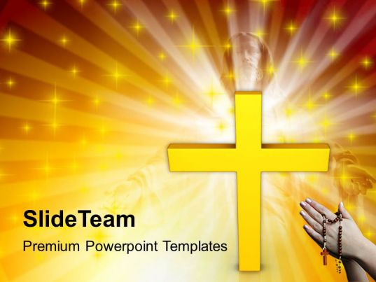 Christmas Pictures Jesus Cross Faith Religion Powerpoint Templates