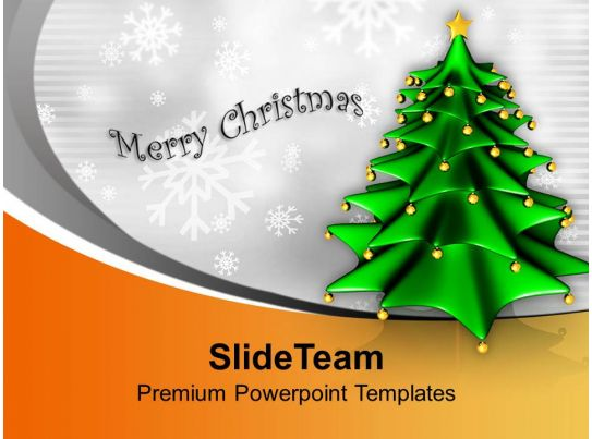 Christmas Tree Background Festival Celebration Powerpoint Templates