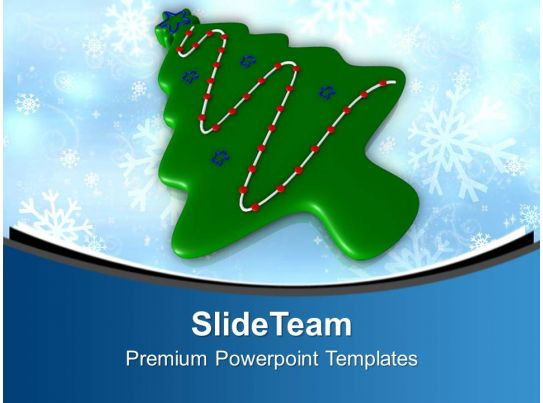 christmas tree in form of cookie powerpoint templates ppt backgrounds for slides 0113