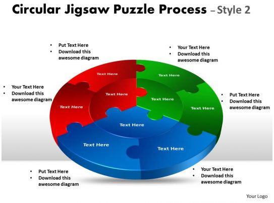 Circular Jigsaw    diagram    Puzzle Process Style    flow    10   PowerPoint Presentation Pictures      PPT