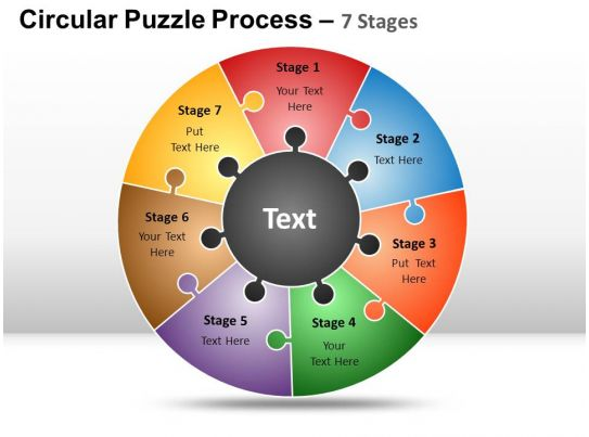 circular puzzle 7 stages powerpoint presentation slides