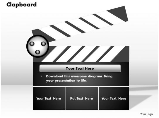 clapboard powerpoint template slide