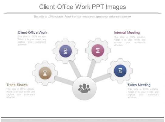 professional business slides showing client office work