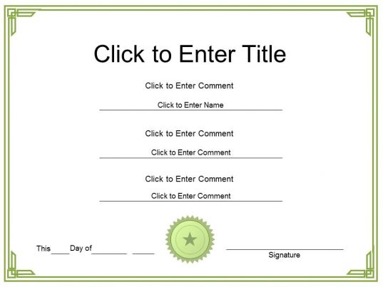 college appreciation certificate template of completion