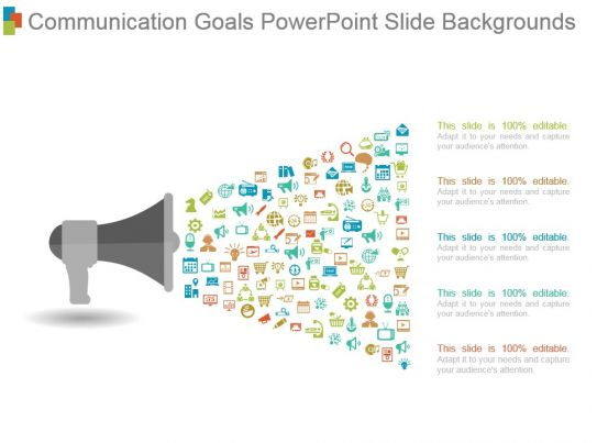 communication goals powerpoint slide backgrounds