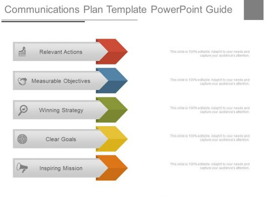 Communications plan template powerpoint guide for Social media communication plan template