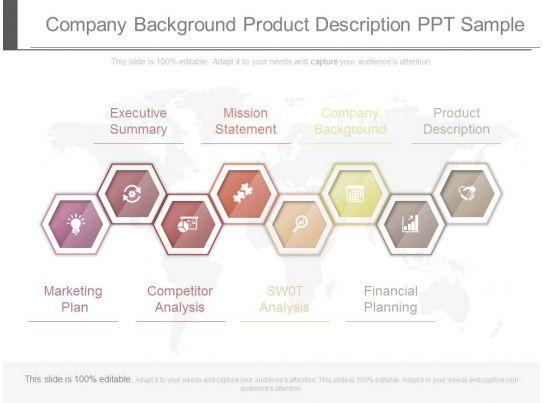 company background example