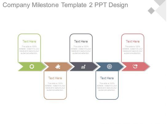 milestone chart templates powerpoint - company milestone template2 ppt design powerpoint slide
