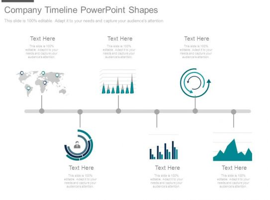 company timeline powerpoint shapes
