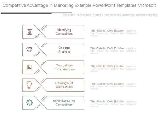 Competitive Advantage In Marketing Example Powerpoint Templates ...