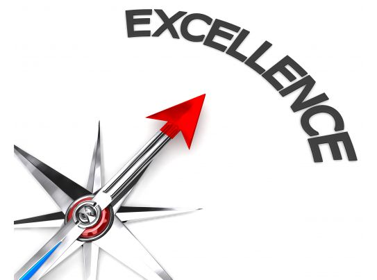 Concept Of Excellence Stock Photo
