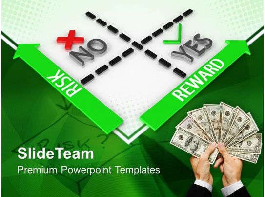 Corporate business strategy templates reward vs risk ppt for Powerpoint theme vs template