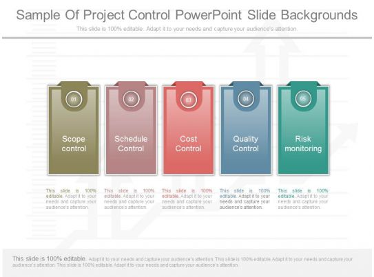 custom sample of project control powerpoint slide