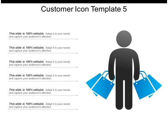customer icon template 5 powerpoint images