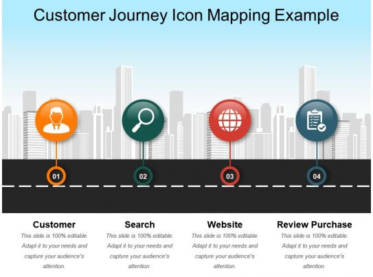 customer journey icon mapping example ppt slide styles templates powerpoint presentation. Black Bedroom Furniture Sets. Home Design Ideas