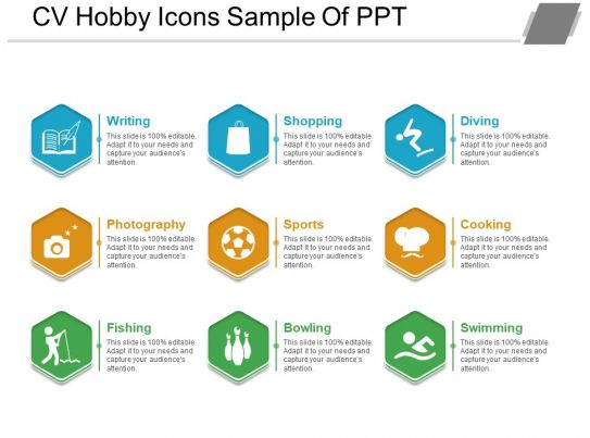 cv hobby icons sample of ppt