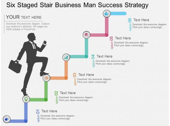 cv six staged stair business man success strategy flat