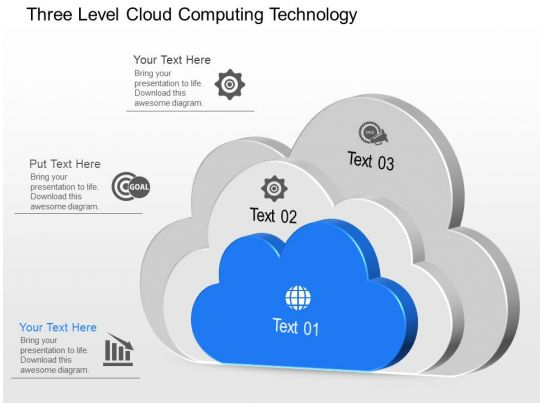 Cx Three Level Cloud Computing Technology Powerpoint Template