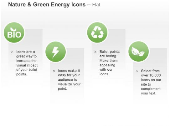 Cy green energy icons with text boxes ppt icons graphics Examples of green technology
