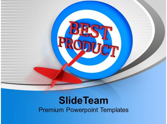 Dart Hitting Best Product Advertising Powerpoint Templates Ppt