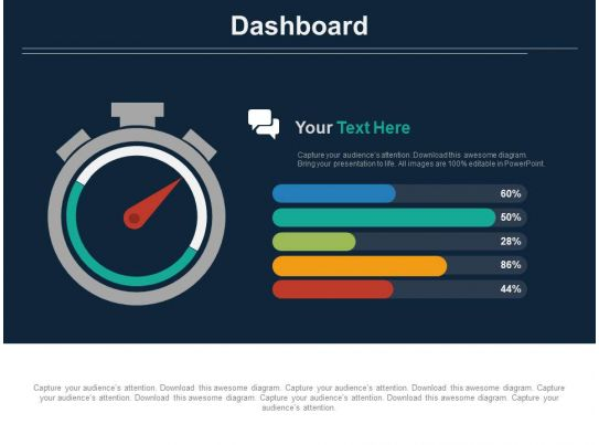 dashboard chart with percentage analysis powerpoint slides