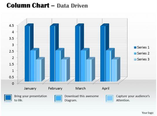 data driven 3d column chart for data analysis powerpoint