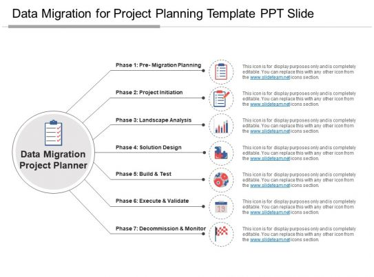 Data migration for project planning template ppt slide for Data migration document template