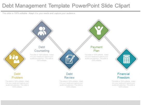 debt management template powerpoint slide clipart
