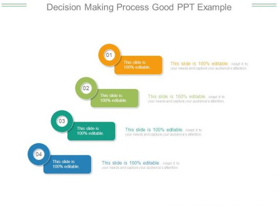 Decision Making Process Good Ppt Example