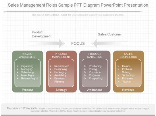 different sales management roles sample ppt diagram