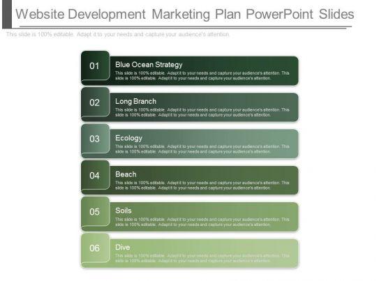 Different Website Development Marketing Plan Powerpoint Slides