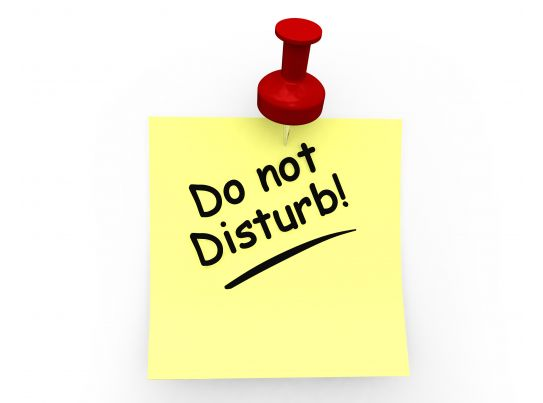 what does the do not disturb on iphone do do not disturb on sticky note stock photo 8622