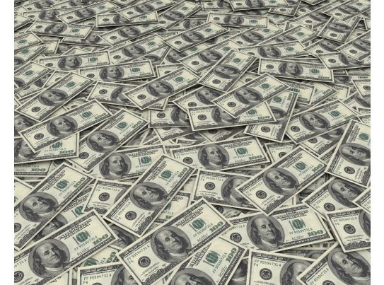 Dollar Background Stock Photo