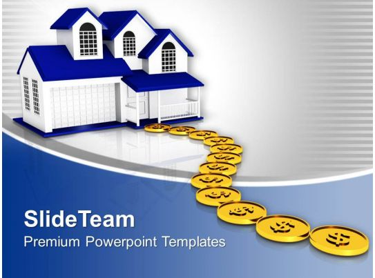 dollar coins path to home powerpoint templates ppt themes and graphics 0313 powerpoint shapes. Black Bedroom Furniture Sets. Home Design Ideas