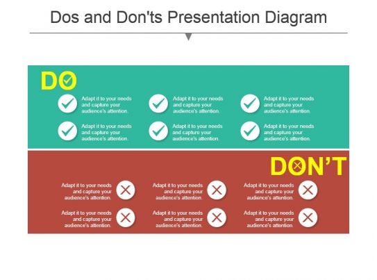 Dos And Donts Presentation    Diagram      Templates PowerPoint