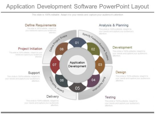 Download Application Development Software Powerpoint Layout
