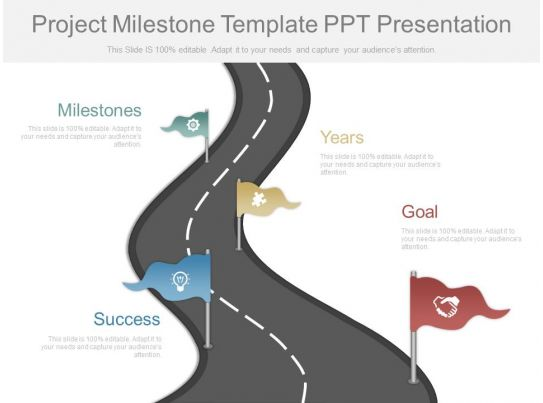 milestone chart templates powerpoint - download project milestone template ppt presentation