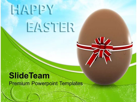 Easter Clipart Chocolate Egg With Bow Festival Powerpoint