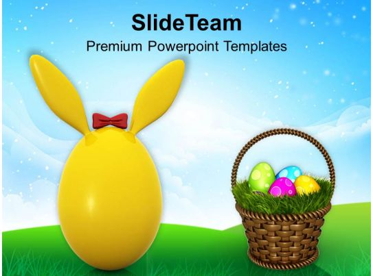 easter egg clipart cute bunny for powerpoint templates ppt