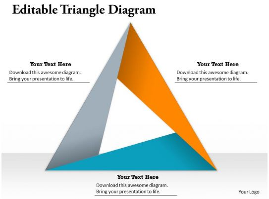 Editable Triangle Diagram Powerpoint Template Slide