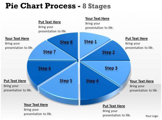 Eight Stages Of Pie Chart Data Interpretation 4 Powerpoint