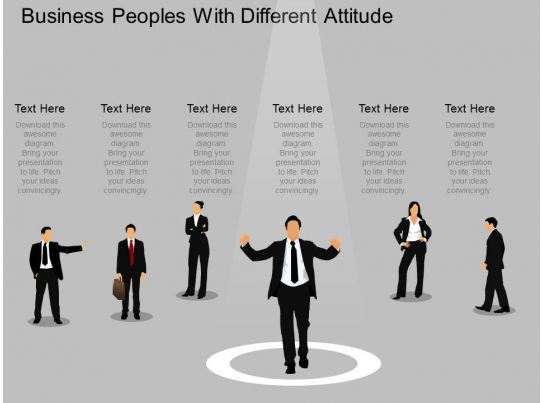 el business peoples with different attitude powerpoint