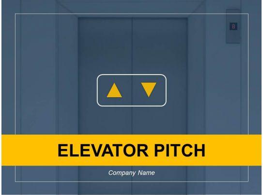 elevator pitch powerpoint presentation slides
