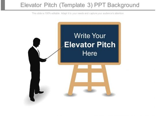 elevator pitch template3 ppt background