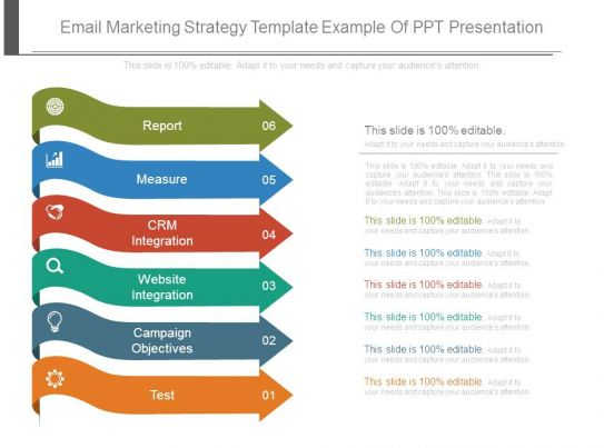 Email Marketing Strategy Template Example Of Ppt Presentation - Email marketing strategy template